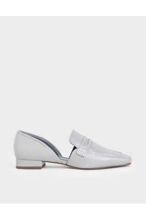 CHARLES & KEITH Espadrille Toe Cap Penny Loafers