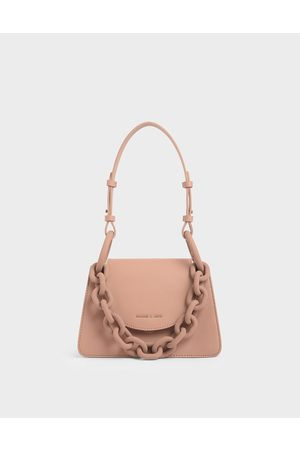 CHARLES & KEITH Chunky Chain Link Small Shoulder Bag