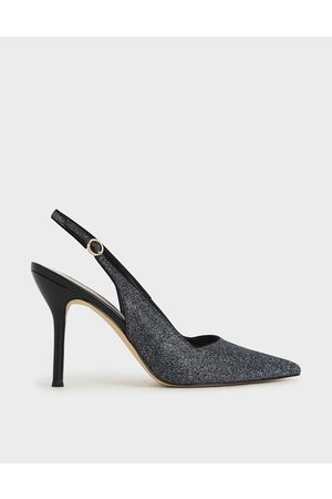 CHARLES & KEITH Glitter Slingback Stiletto Court Shoes