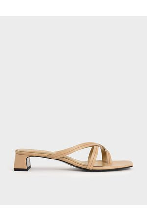 CHARLES & KEITH Strappy Toe Loop Heeled Sandals