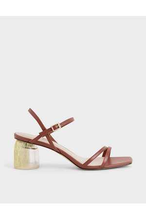CHARLES & KEITH Strappy Sculptural Heel Sandals