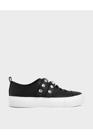 CHARLES & KEITH Gem-Embellished Platform Sneakers