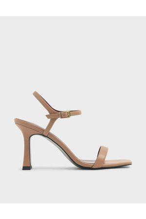 CHARLES & KEITH Women Sandals - Sculptural Heel Sandals