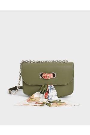 CHARLES & KEITH Women Shoulder Bags - Chiffon Scarf Double Strap Shoulder Bag