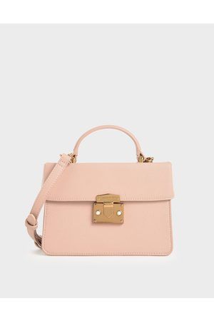 CHARLES & KEITH Classic Push-Lock Top Handle Bag