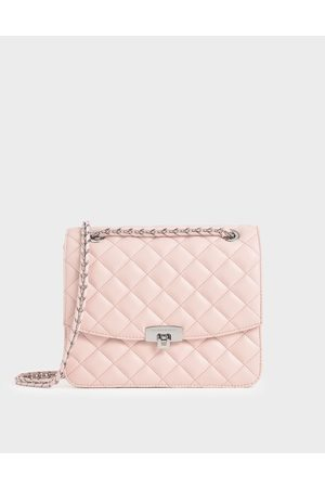 CHARLES & KEITH Quilted Push-Lock Clutch