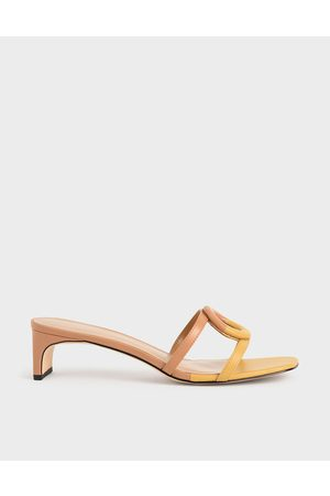 CHARLES & KEITH Mismatched Blade Heel Sandals