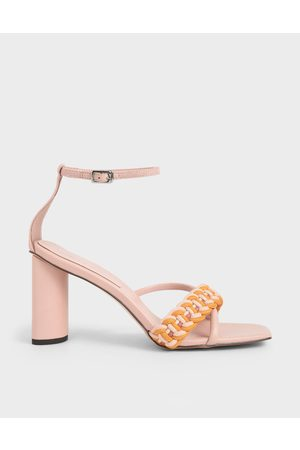 CHARLES & KEITH Rope Cylindrical Heeled Sandals