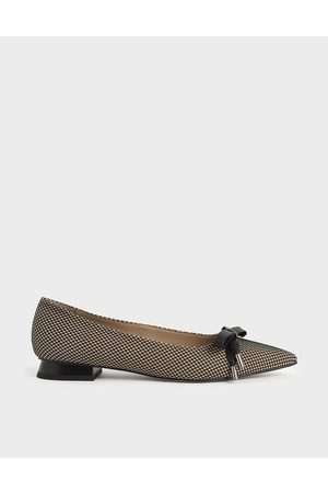 CHARLES & KEITH Bow Ballerina Flats (Kid Suede)