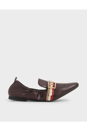 CHARLES & KEITH Studded Loafers