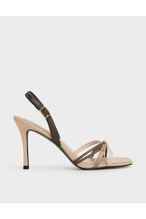 CHARLES & KEITH Strappy Slingback Heeled Sandals