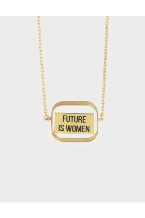 "CHARLES & KEITH """"FUTURE IS WOMEN"" Acrylic Necklace"