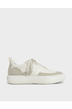 CHARLES & KEITH Textured Low Top Sneakers
