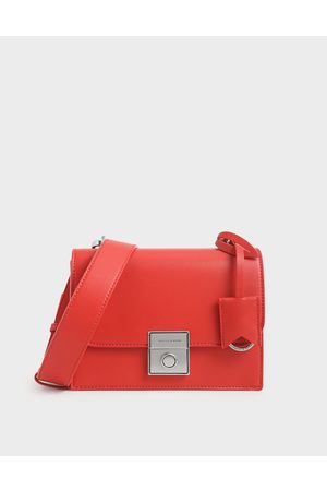 CHARLES & KEITH Boxy Push Lock Crossbody Bag
