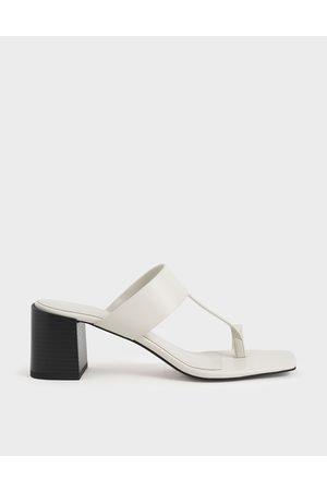 CHARLES & KEITH Toe Ring Block Heel Sandals