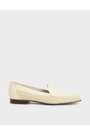 CHARLES & KEITH Leather Crochet Loafers