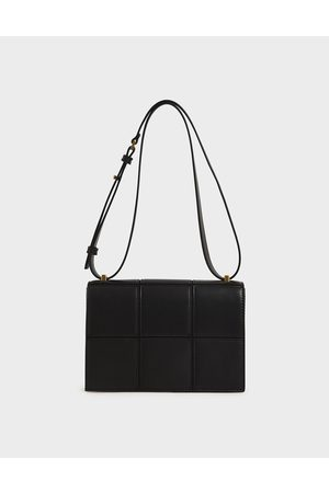 CHARLES & KEITH Textured Panelled Shoulder Bag