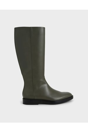 CHARLES & KEITH Side Zip Knee High Boots