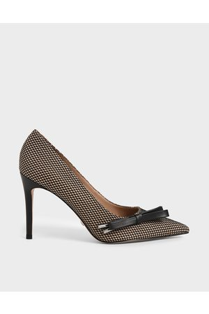 CHARLES & KEITH Bow Stiletto Pumps (Kid Suede)