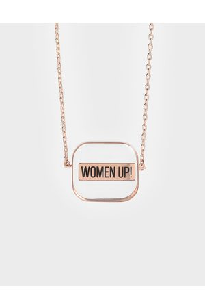 "CHARLES & KEITH Women Necklaces - """"WOMEN UP!"" Acrylic Necklace"