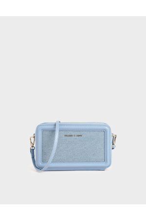 CHARLES & KEITH Textured Zip Around Wallet