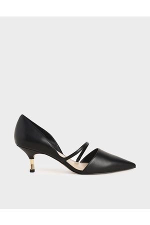 CHARLES & KEITH Women Pumps - Asymmetric Strap D'Orsay Pumps