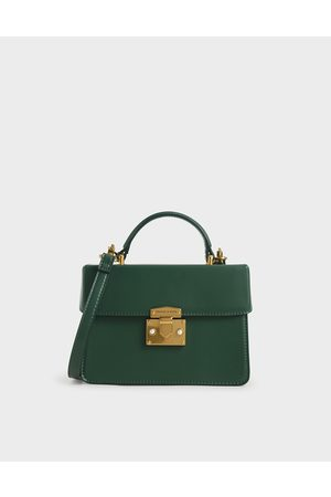 CHARLES & KEITH Metallic Push-Lock Handbag
