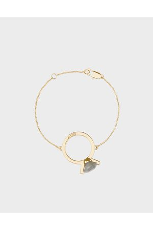 CHARLES & KEITH Labradorite Stone Ring Bracelet