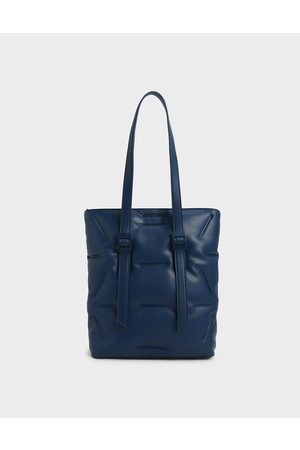 CHARLES & KEITH Women Tote Bags - Puffer Double Handle Tote Bag