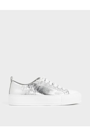 CHARLES & KEITH Metallic Platform Sneakers