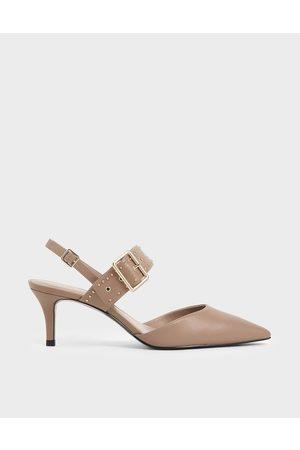 CHARLES & KEITH Studded Slingback Heels