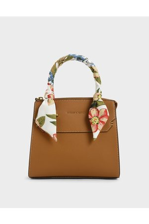 CHARLES & KEITH Women Bags - Scarf-Wrapped Top Handle Bag