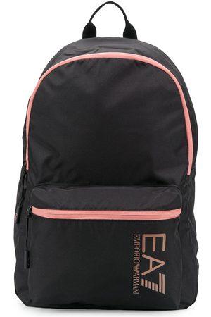EA7 Contrast-trim logo backpack
