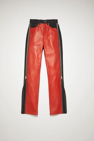Acne Studios PS-WN-TROU000001 /red Zip trousers