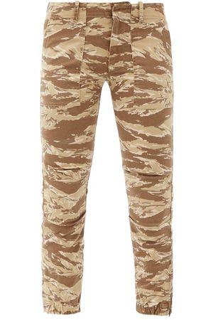 NILI LOTAN Jenna Tiger-print Cotton-blend Cropped Trousers - Womens - Animal