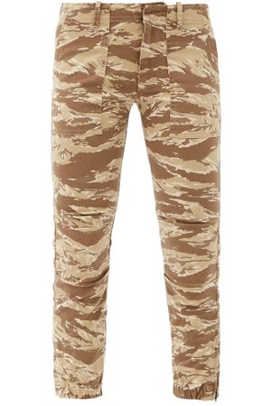 NILI LOTAN Women Straight Leg Pants - Jenna Tiger-print Cotton-blend Cropped Trousers - Womens - Animal