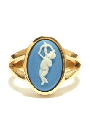 Ferian Cupid Wedgwood Cameo & 9kt Gold Ring - Womens