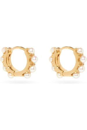 ROSA DE LA CRUZ Pearl & 18kt Gold Eternity Hoop Earrings - Womens - Pearl