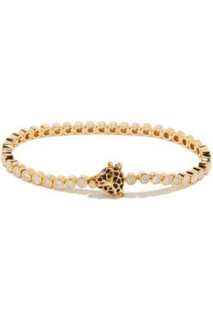 YVONNE LÉON Leopard Diamond & 18kt Bracelet - Womens - Multi