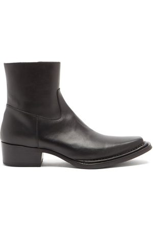 Acne Studios Cuban-heel Leather Ankle Boots - Mens