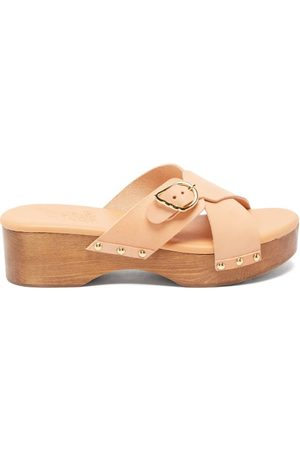 Ancient Greek Sandals Women Clogs - Marilisa Crossover-strap Leather Clogs - Womens - Tan