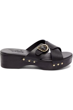 Ancient Greek Sandals Marilisa Crossover-strap Leather Clogs - Womens