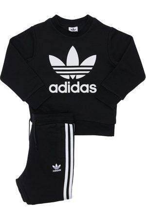 adidas Girls Sweatpants - Cotton Blend Sweatshirt & Sweatpants