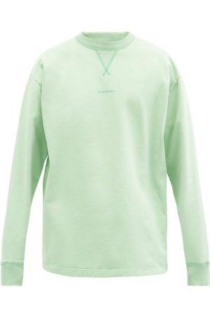 Acne Studios Fin Logo-print Cotton-jersey Sweatshirt - Mens