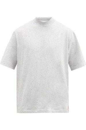 Acne Studios Esco High-neck Cotton T-shirt - Mens - Light Grey