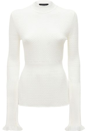 Rochas Women Sweaters - Flared Cable Knit Sweater