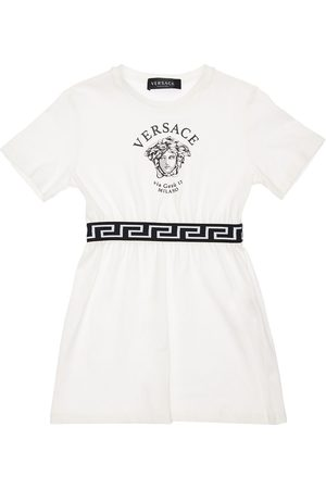 VERSACE Medusa Print Cotton Jersey Dress