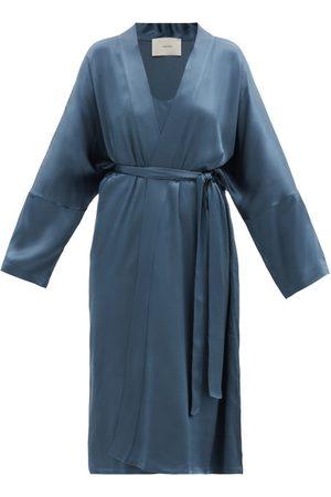 ASCENO Women Bathrobes - Athens Bamboo-satin Robe - Womens