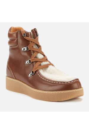 Isabel Marant Women's Alpica Shearling Hiking Style Boots