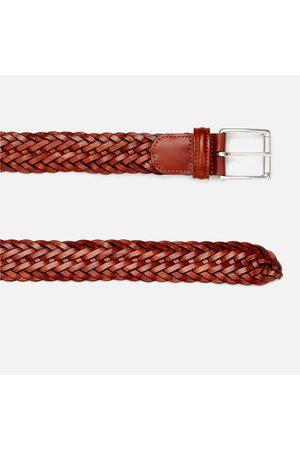 Anderson's Men Belts - Men's Woven Leather Belt